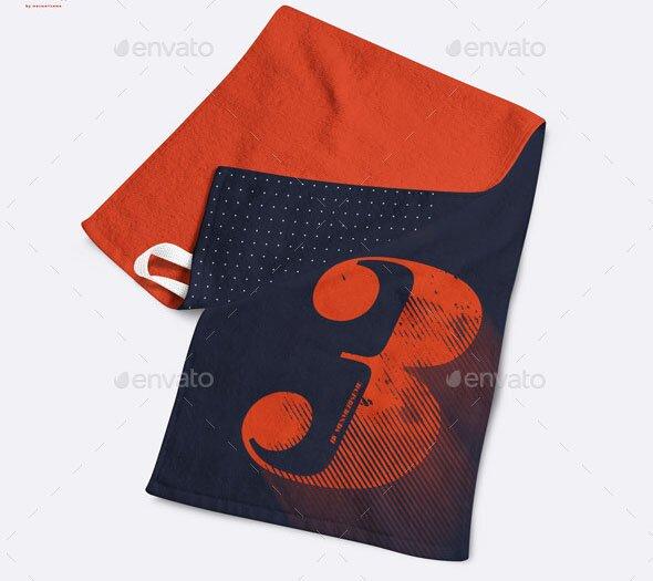 Small Gym Towel Mock-up