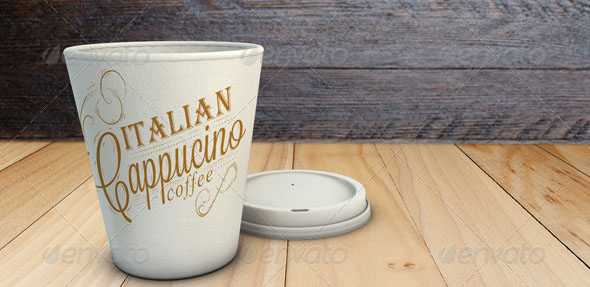 Takeaway Coffee Cup Mock-Up