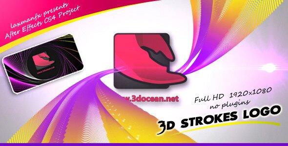 3D Strokes Logo
