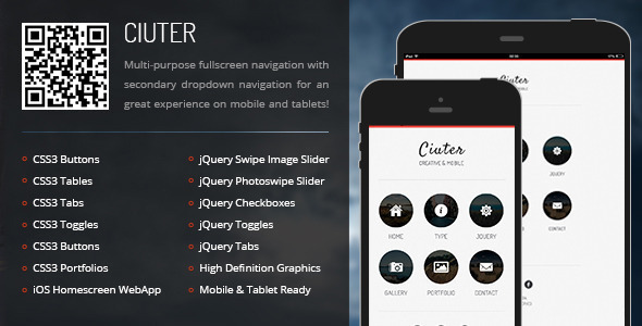 Ciuter Mobile Tablet Responsive Template