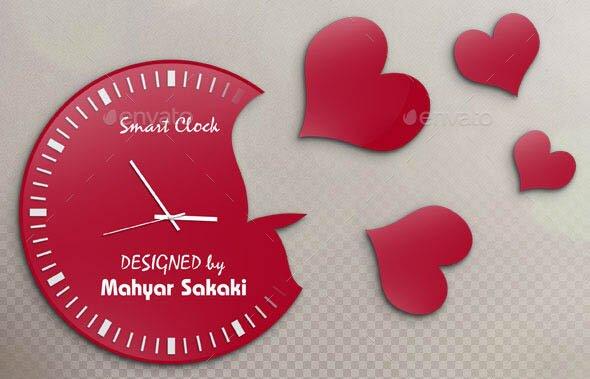 Creative Clock Mockup