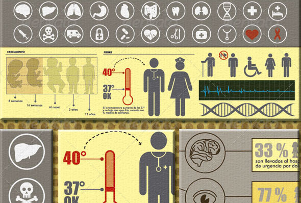 Icons Health Infographic Style