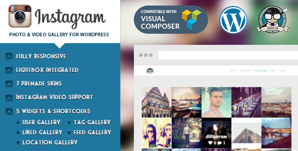 Instagram Photo Video Gallery WordPress