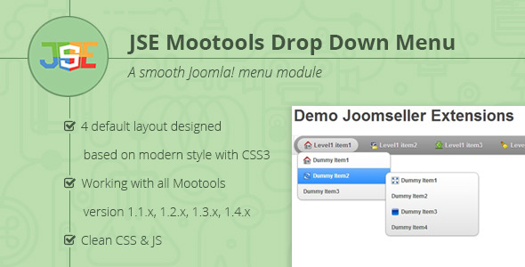 JSE Dropdown Menu for Joomla