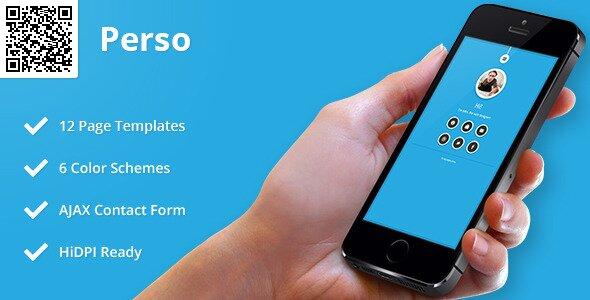 Perso Mobile HTML CSS Portfolio Template