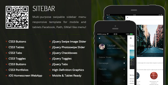 Sitebar Mobile Tablet Responsive Template