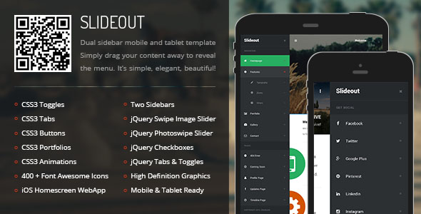 Slideout Mobile Tablet Responsive Template
