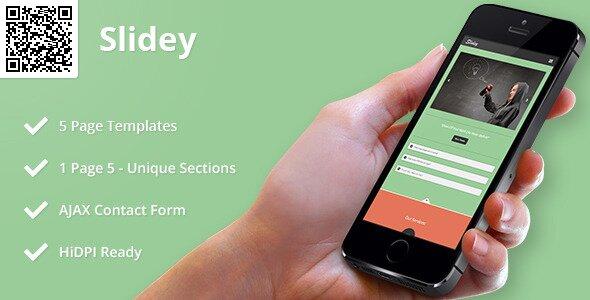 Slidey Mobile HTML CSS Portfolio Template