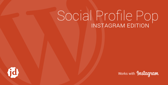 Social Profile Pop Instagram Edition