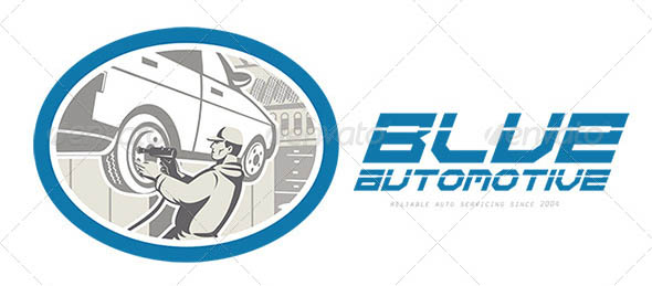 Blue Automotive Logo
