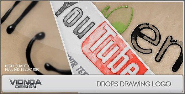 Drops Drawing Logo