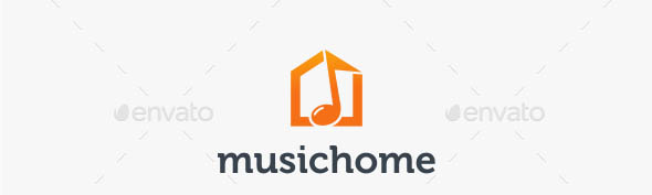 Music Home Logo Template