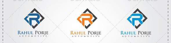 R Letter Automotive Logo Template
