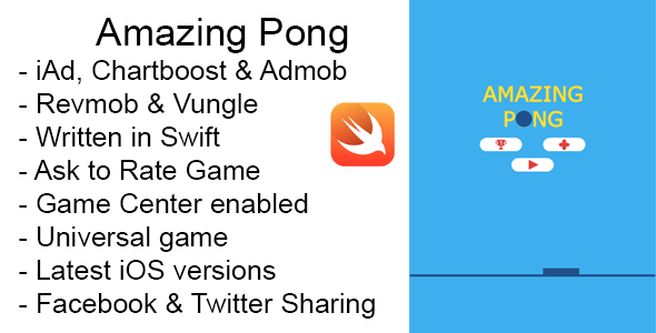 Amazing Pong Swift iOS Game