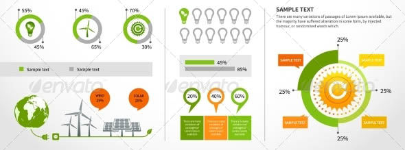 Energy Infographics Layout Template