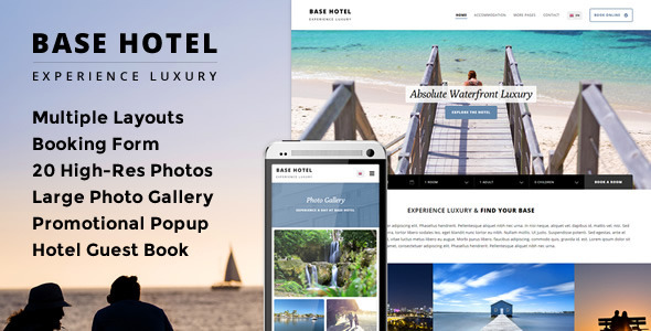 Base Hotel Responsive Booking Template