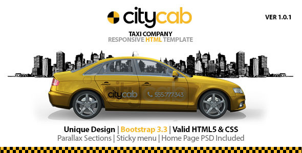 CityCab Taxi Company Responsive HTML Template