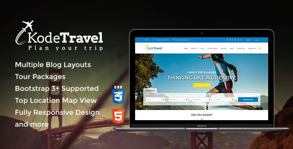 KodeTravel Tourism HTML5 Template