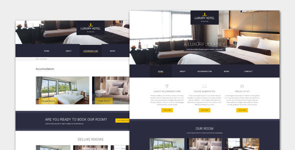 Luxury Hotel and Resort HTML Template