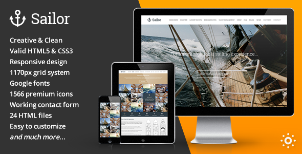Sailor Yacht Charter Booking HTML Template