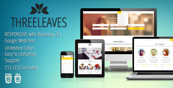 Threeleaves Responsive Hotel Template