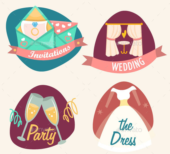 Wedding Set Icons
