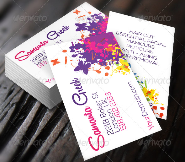 Colorful Life Elegant Business Card