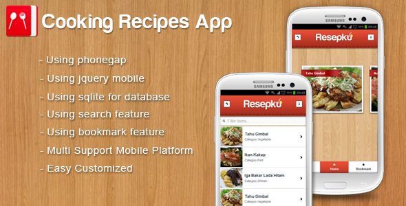 13 useful recipe app source code for android ios design freebies forumfinder Gallery