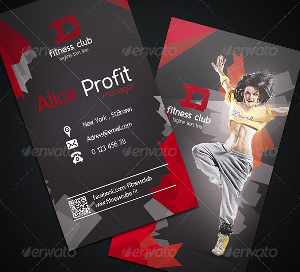 Fitness Business Card 01
