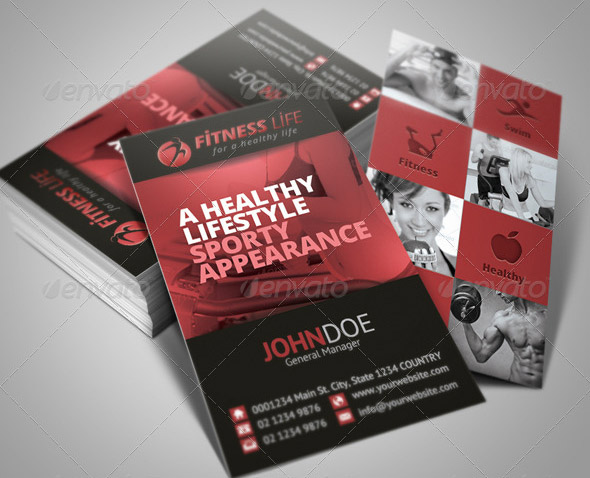 14 nice business card for gym fitness design freebies fitness business card 03 wajeb Images