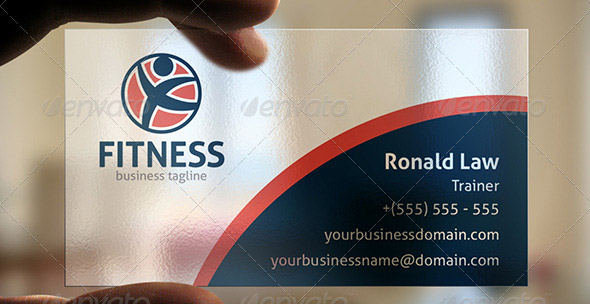 Fitness Business Card PSD