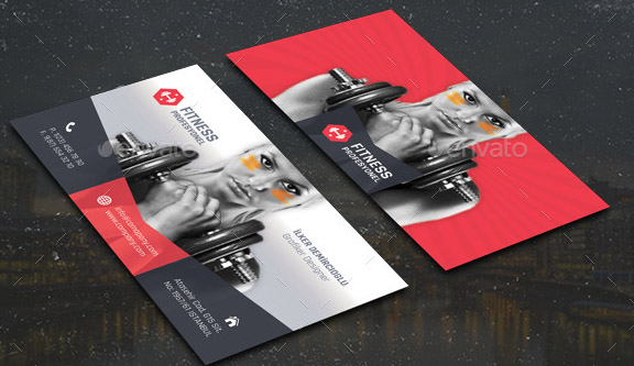 14 Nice Business Card For Gym & Fitness