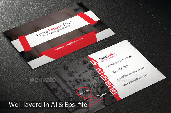 Fitness Business Card Vol
