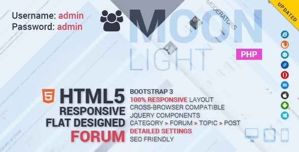 MoonLight Bootstrap Responsive Forum System