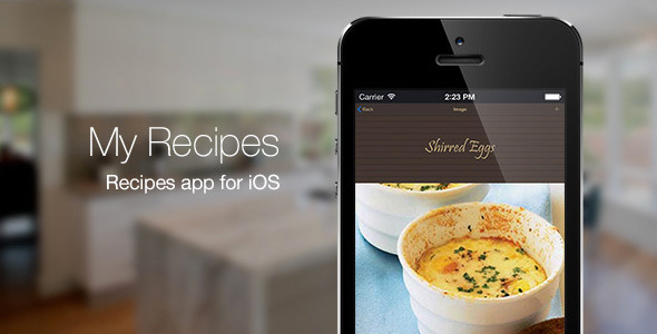 My Recipes Recipe App for iOS App Source Code
