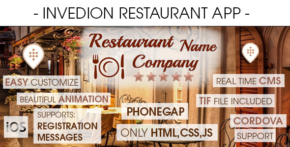 Restaurant App With CMS iOS