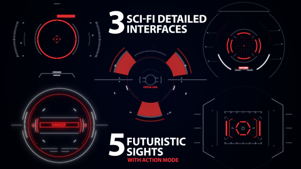 Sci-fi Interfaces and Sights pack