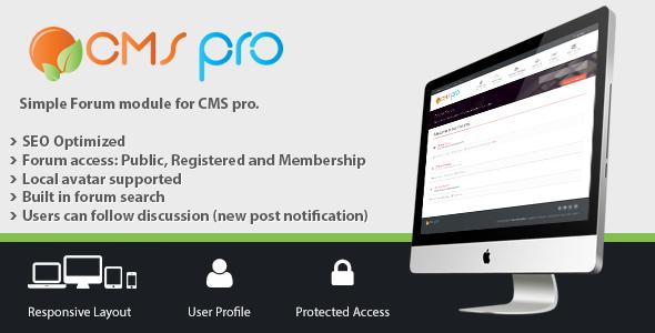 Simple Forum Module for CMS pro