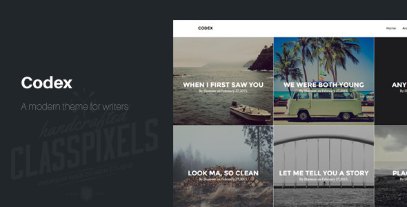 Codex Blogging theme to tell Stories