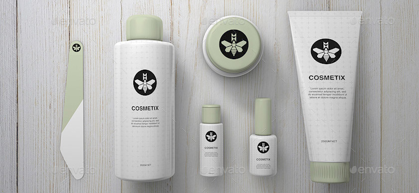 Cosmetics Mock-Up Toiletries Make Up Mock-Up