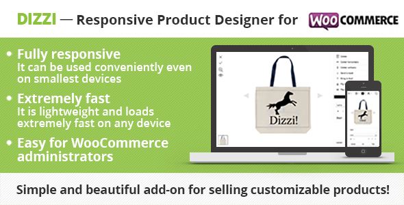 Dizzi - Responsive Product Designer for WooCommerce