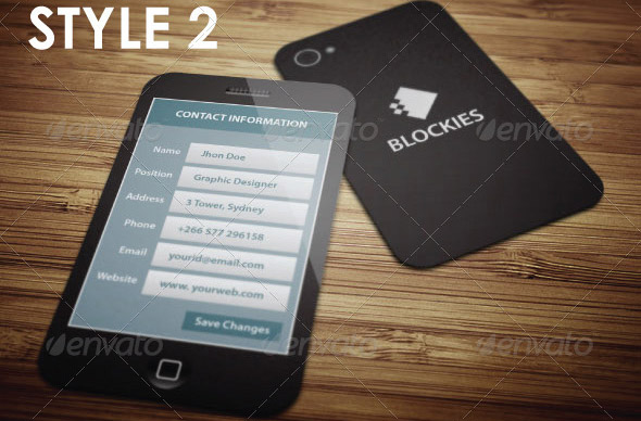 Exclusive Smart Phone Business Card