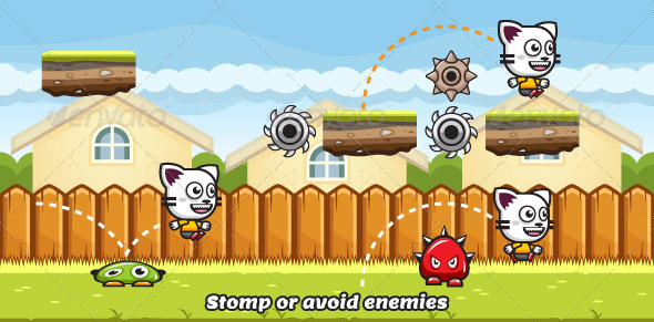 Game Asset Running and Jumping Cat Sprite Sheets