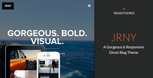 JRNY A Gorgeous Responsive Ghost Blog Theme