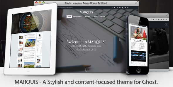 MARQUIS Stylish Content-Focused Ghost Theme