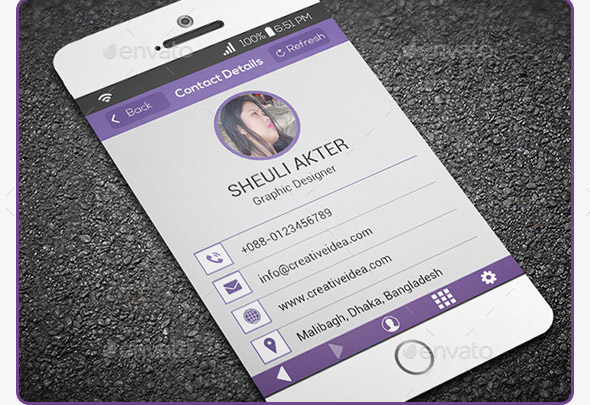 Phone Style Business Card-2