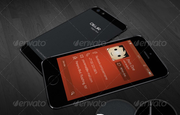 Phone Style Corporate Business Card