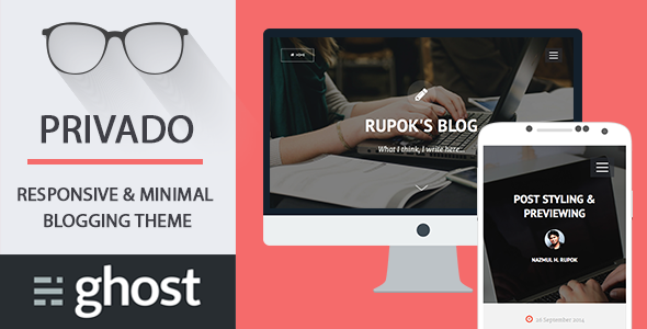 Privado Minimal Blogging Theme for Ghost