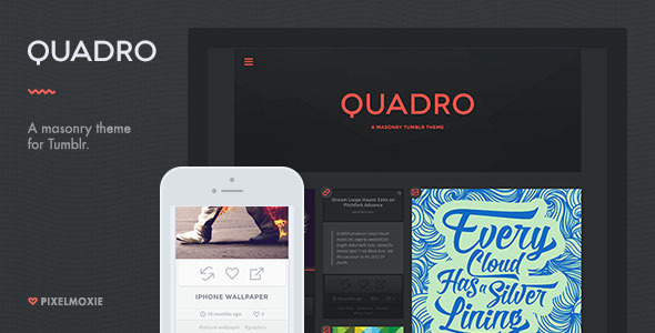 Quadro A Masonry Theme for Tumblr