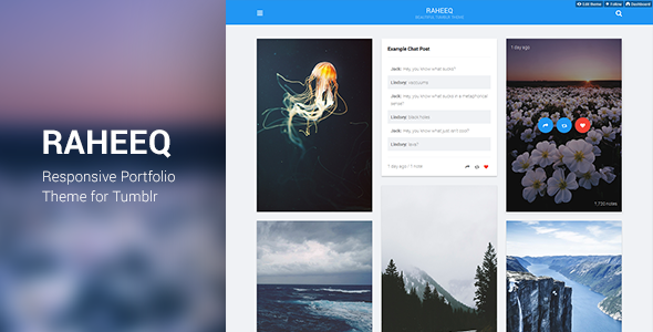 Raheeq Material Design Tumblr Theme